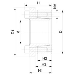 KLBB014x55-AISI304 - Locking Device