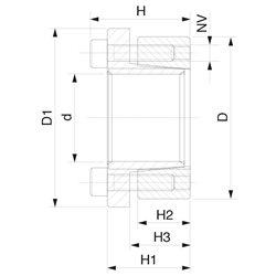 KLBB018x55-AISI316 - Locking Device