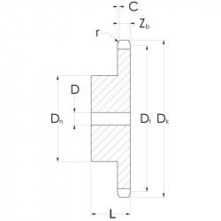 KR08B-1-Z015-45HRC